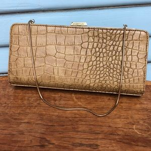 Banana Republic Faux Alligator Chain Evening Bag